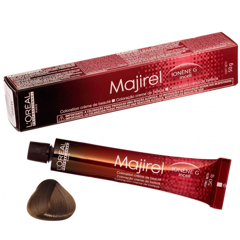 Coloração Majirel 8.34 Louro Claro Dourado Acobreado 50g Loréal
