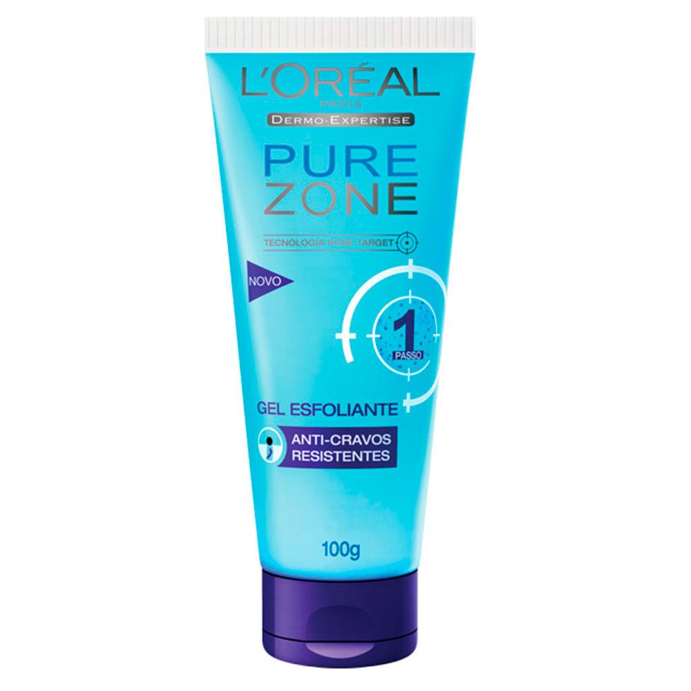 Gel Esfoliante Pure Zone Anti Cravos 100ml Loréal Paris
