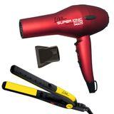 Kit-Secador-Super-Ionic-Pro-Vermelho-2000W-Prancha-Passione-Amarela-220V-Lizz-9329577