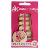 Unhas-Posticas-para-os-Pes-Autocolante-Natural-com-28-unidades-Ak-Acessorios-9357228