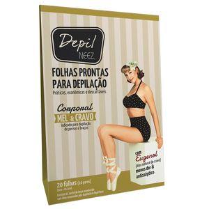 Folha-Pronta-Corporal-Mel-e-Cravo-com-20-folhas-Depil-Neez-9408586