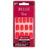 Unhas-Coloridas-Quadrado-Medio-Red-Wine-ref-2303-com-24-unidades-Belliz-9450608
