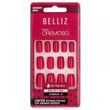 Unhas-Coloridas-Quadrado-Medio-Rosa-Cremoso-ref-2306-com-24-unidades-Belliz-9450622