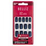 Unhas-Coloridas-Quadrado-Medio-Metal-Blues-ref-2310-com-24-unidades-Belliz-9453173