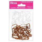 elastico-para-cabelo-invisivel-com-100-unidades-ricca-9306653-8308